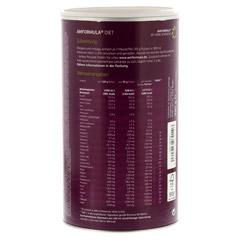 AMFORMULA Diet Vanille Pulver 490 Gramm - Rückseite