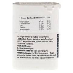 CAROTINOID Minis Dragees 350 Stück - Rückseite