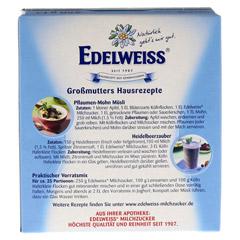 EDELWEISS Milchzucker 250 Gramm - Rückseite