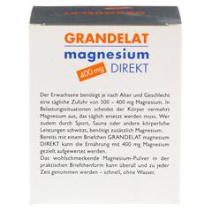 MAGNESIUM DIREKT 400 mg Grandelat Pulver 20 Stück - Rückseite