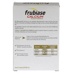 FRUBIASE CALCIUM+Vitamin D Brausetabletten 20 Stück - Rückseite