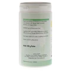 GLUTAMIN 100% Pur Pulver 500 Gramm - Rückseite