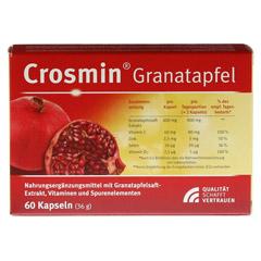 CROSMIN Granatapfel Kapseln 60 Stück - Rückseite