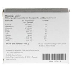 BASOCAPS Verla Kapseln 60 Stück - Rückseite