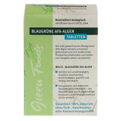 AFA ALGE 400 mg blaugrün Tabletten Blister 150 Stück - Rückseite