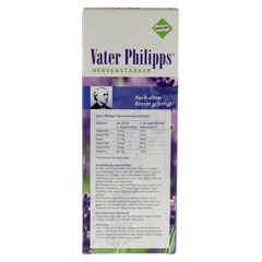 VATER PHILIPPS Nervenstärker Liquidum 500 Milliliter - Rückseite