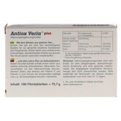 ANTIOX Verla plus Filmtabletten 100 Stück - Rückseite