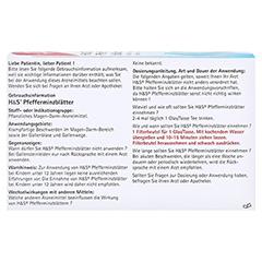 H&S Pfefferminzblätter 20 Stück - Rückseite