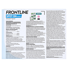 FRONTLINE Spot on H 10 Lösung f.Hunde 6 Stück - Rückseite