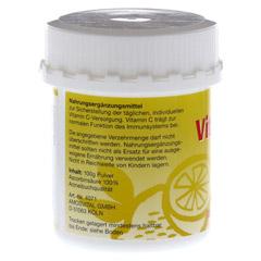 VITAMIN C pur Pulver 100 Gramm - Rückseite