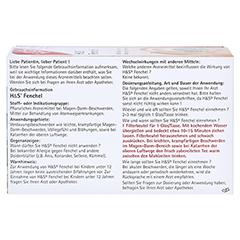 H&S Fencheltee ungemischt Filterbeutel 20 Stück - Rückseite