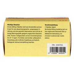 ARONTA 600 mg Tabletten 60 Stück - Rückseite