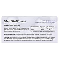 CEFASEL 200 nutri Selen-Tabs 20 Stück - Rückseite