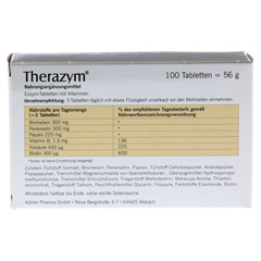 THERAZYM Tabletten 100 Stück - Rückseite