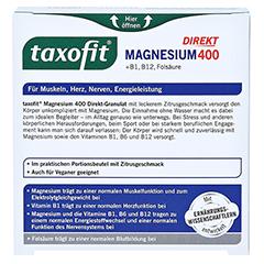TAXOFIT Magnesium 400+B1+B6+B12+Folsäure 800 Gran. 20 Stück - Rückseite