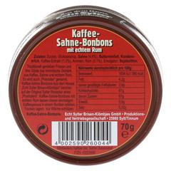 ECHT SYLTER Ins.Klömbjes Kaffee/Sahne 70 Gramm - Rückseite