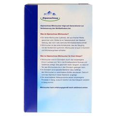 ALPENSCHNEE Milchzucker 500 Gramm - Rückseite