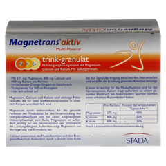 MAGNETRANS aktiv Multi Mineral Trink-Granulat 20 Stück - Rückseite