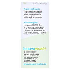 INNOVA Mulsin Vitamin D3 Emulsion 10 Milliliter - Rückseite