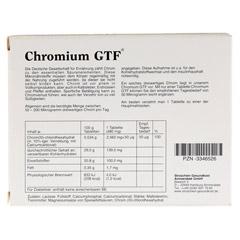 CHROMIUM GTF Tabletten 30 Stück - Rückseite