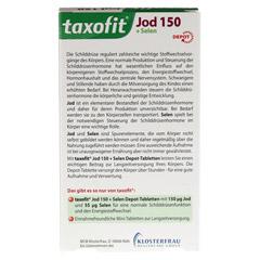 TAXOFIT Jod Depot Tabletten 60 Stück - Rückseite