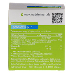 PROBIOTIK Pur Pulver 10x2 Gramm - Rückseite