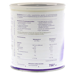 MALTODEXTRIN 6 Pulver 750 Gramm - Rückseite