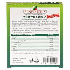 WILDAPFEL Bonbons mit Menthol + Vitamin C 50 Gramm - Rückseite