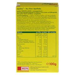 APODAY Limone Vitamin C+Grüntee-Extrakt Pulver 10x10 Gramm - Rückseite