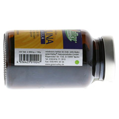 SPIRULINA+CHLORELLA Earthrise Tabletten 250 Stück - Rückseite