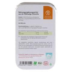 CHLORELLA 500 mg Bio Naturland Tabletten 80 Stück - Rückseite