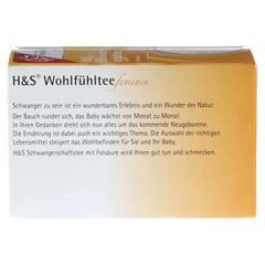 H&S Wohlfühltee feminin Schwangerschaftstee Fbtl. 20 Stück - Rückseite