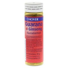 HOYER Guarana & Ginseng Kautabletten 60 Stück - Rückseite