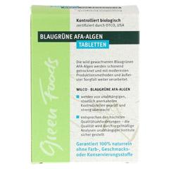 AFA ALGE 400 mg blaugrün Tabletten 60 Stück - Rückseite
