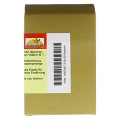 THIAMIN Kapseln Vitamin B1 60 Stück - Rückseite