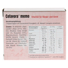 CEFAVORA memo Weichgelatinekapseln 30 Stück - Rückseite