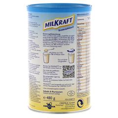 MILKRAFT Trinkmahlzeit Schoko Pulver 480 Gramm - Rückseite
