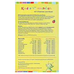 Kinder Vitaminchen Bonbons 28 Stück - Rückseite