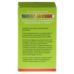 GREEN MAGMA Gerstengrasextrakt Tabletten 320 Stück - Rückseite