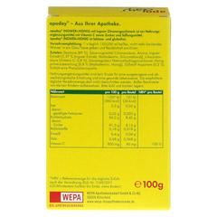 Apoday Ingwer + Honig mit Zitronengeschmack 10x10 Gramm - Rückseite