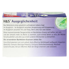 H&S Bachblüten Ausgeglichenheits-Tee Filterbeutel 20 Stück - Rückseite