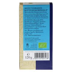 Sonnentor Mediterranes Blütenzauber Salz 120 Gramm - Rückseite