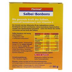 FLORIMEL Salbeibonbons m.Vitamin C 50 Gramm - Rückseite