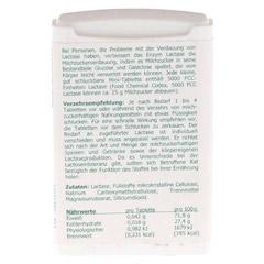 LACTASE 5.000 FCC Enzym Mini Tabl.im Dosierspender 120 Stück - Rückseite