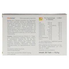 VITAVERLAN Tabletten 30 Stück - Rückseite