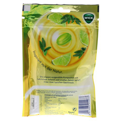 WICK Limette & Salbei Bonbons o.Zucker 72 Gramm - Rückseite