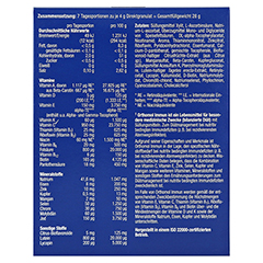 ORTHOMOL Immun Direktgranulat Himbeer/Menthol 7 Stück - Rückseite