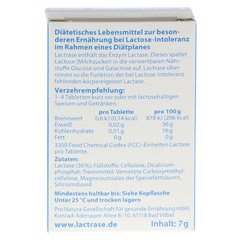 LACTRASE 3.300 FCC Tabletten im Klickspender 100 Stück - Rückseite