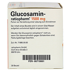 Glucosamin-ratiopharm 30 Stück - Rechte Seite