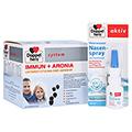 DOPPELHERZ Immun+Aronia system Ampullen + gratis Doppelherz Meerwasser Nasenspray mit Panthenol 30 Stück